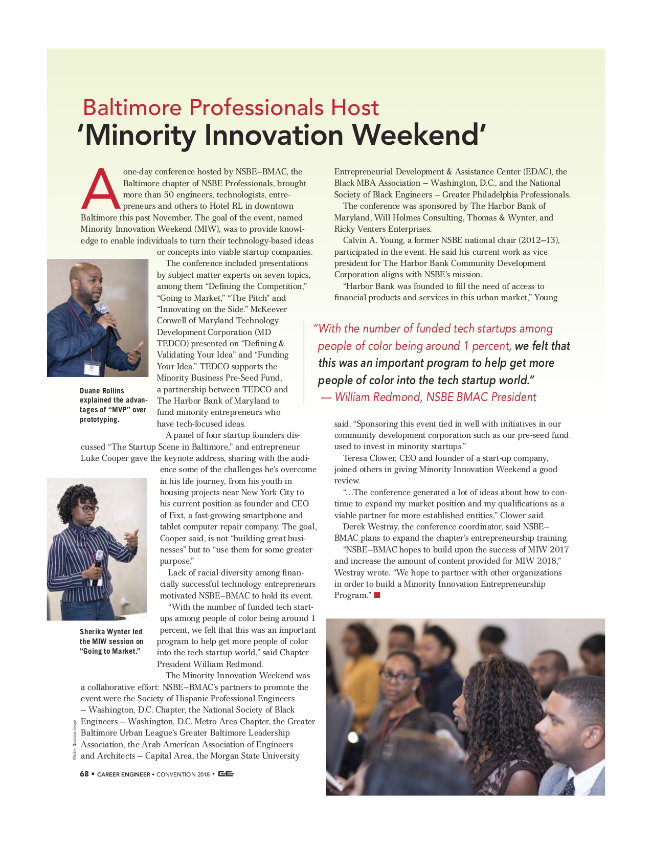 Baltimore Professionals Host Minority Innovation Weekend