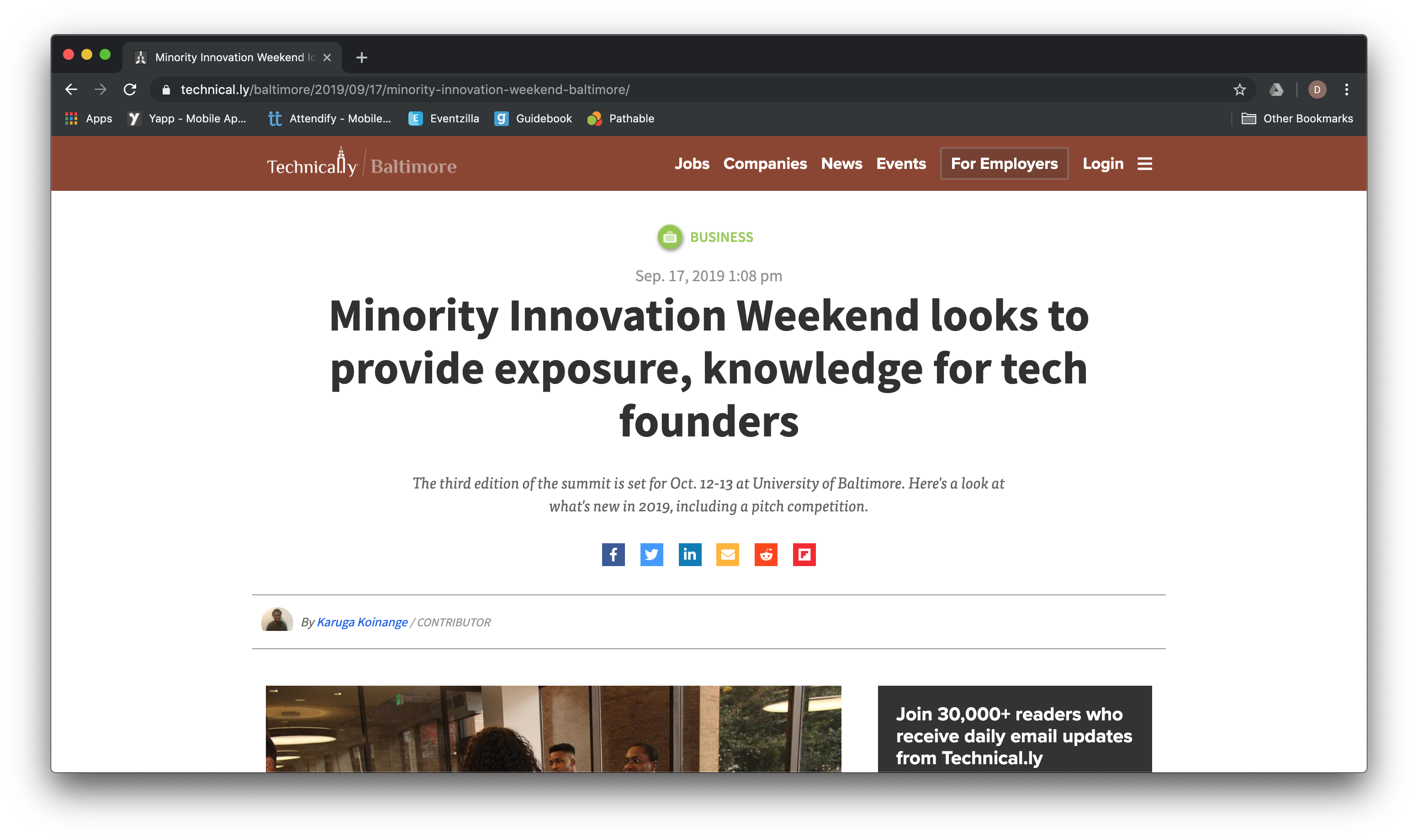 In The News: See the latest coverage of MIW 2019 from Technically Baltimore!